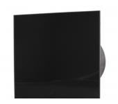 Вентилатор за баня и WC - MM-P-UE 100/100 квадрат с клапа 06 Стъкло права /черен и сребро/