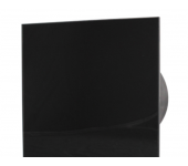 Вентилатор за баня и WC - MM-P-UE 100/100 квадрат с клапа 06 Стъкло права /черен мат/