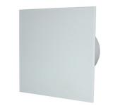 Вентилатор за баня и WC - MM-P-UE 100/100 квадрат с клапа 06 Стъкло права
