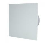 Вентилатор за баня и WC - MM-P-UE 100/100 квадрат с клапа 06 Стъкло права /бял мат/