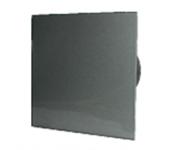 Вентилатор за баня и WC - MM-P-UE 100/100 квадрат с клапа 06 Стъкло права /фолио и хром/