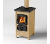 Печка на дърва и въглища MBS Happy, кремав