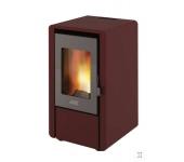 Пелетна камина ELIT-FIRE суха Q=6,15 kW цвят: бордо