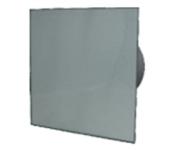 Вентилатор за баня и WC - MM-P 100/105 квадрат с клапа 01 Сив
