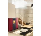 Пелетна камина SUBTILE MC10 суха цвят: бордо