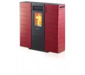 Пелетна камина SUBTILE SC8 суха цвят: бордо