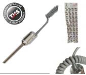 Електически нагревател 300W с никел ХРОМ глава с терморелеTHS THERMOSTYLE